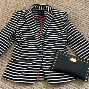 Christian Siriano Striped Blazer